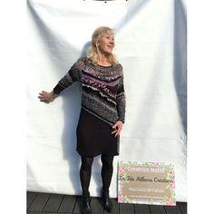 """Robe crochet dentelle de créatrice noire crochet de création """"lanfon"""", fourche, dentelle, entrelacs de fils, création unique, crochet d'art, dentelle d'art Tricot D'art, Creations, Tunic Tops, Unique, Sweaters, Dresses, Women, Fashion, Knit Jacket"""