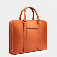 Made in Italy with full-grain, vegetable-tanned leather. A contemporary briefcase acting as a personal portfolio; an everyday companion for the modern gentleman. Mens Leather Laptop Bag, Leather Briefcase, Leather Men, Men's Briefcase, Leather Jackets, Pink Leather, Leather Bags, Briefcase Women, Leather Workshop