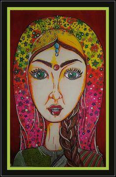 Mujer India #lunarteodpm#colores#arte# posca#acuarelas