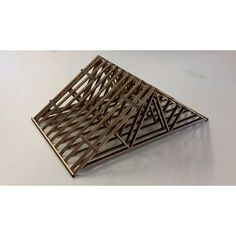 Fink roof truss model. #architecturaltechnology #architectureporn #lasercut by ryecollo