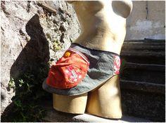 """Escarcelle: ceinture à poche pour femme """"la Japonaise"""""""