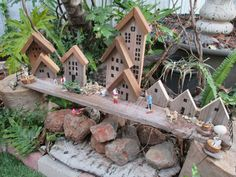 Up-cycled fence pailing-small world play. Lyns Family Day Care