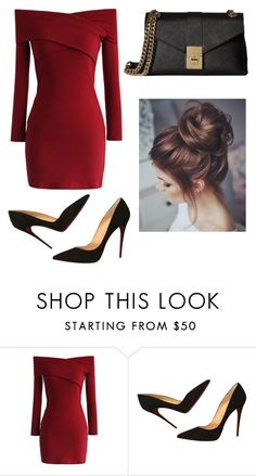"""Fifty Shades."" by lieneofficial on Polyvore featuring Chicwish, Christian Louboutin and Calvin Klein"