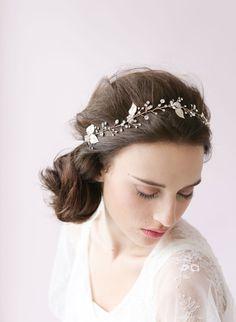 Bridal crystal hair vine  Crystal sparkle hair vine  by myrakim, $190.00