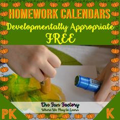 These FREE EDITABLE Homework Calendars help young children with active, participatory experiences. Use these activities as Kindergarten homework (and preschool). Pk and Kindergarten children need to touch, feel, and be active. These calendars use Developmentally Appropriate Practices and encourage p... Kindergarten Homework, Kindergarten Teachers, Kindergarten Activities, Homework Calendar, Preschool Calendar, The Fun Factory, Party Food Labels, Notes To Parents, Play To Learn