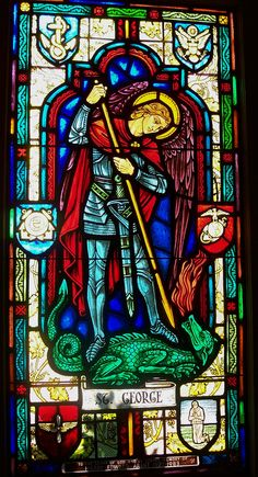 St George and the Dragon Stained Glass Window   Flickr - Photo Sharing!