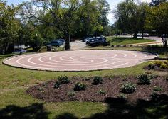 This labyrinth -- the Rose Park Labyrinth -- is a gift to the community of Macon from the Medical Center of Central Georgia, the MEDCEN Foundation, and The City of Macon. It is a peace park. It is a place for healing. It is free, and it is open all the time.