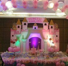 Princess theme party- Kiara Khettry. Princess Theme Party, Party Themes, Castle, Parties, Indian, Mirror, Frame, Home Decor, Fiestas