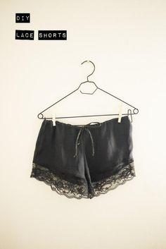 DIY Clothes Refashion : DIY LACE SHORTS : DIY Clothes : DIY Fashion : DIY Refashion : DIY Sew : DIY Upcycle : DIY Shorts