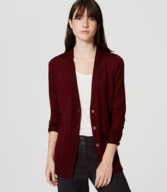 Image of Boyfriend Cardigan color Royal Red