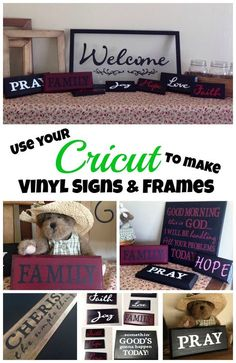 My Cricut Closet: More Signs With Cricut and Vinyl by Lisa Lawson Cricut Explore Projects, Cricut Explore Air, Cricut Air, Cricut Vinyl, Cricut Craft, Cricut Help, Vinyl Crafts, Vinyl Projects, Fun Crafts