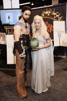Kahl Drogo and Daenerys Targeryen... he makes an excellent Kahl... Daenerys not so much... le sigh :(