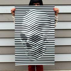 Skulledelic Poster by Noah Scalin -