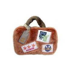Suitcase Plush Dog Toy