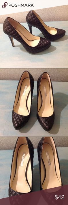 """BCBGeneration """"Pixie"""" Pointed Toe Heels Quilted faux leather upper with man made sole. 5"""" heel with 3/4 inch hidden platform. Comfortable. Worn one time, perfect condition, like new! BCBGeneration Shoes Heels"""