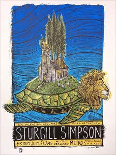 Sturgill Simpson w/ Cris Jacobs - silkscreen concert poster (click image for more detail) Artist: Dan Grzeca Venue: Metro Location: Chicago, IL Concert Date: Size: x Edition: si Old Town School, Lion Turtle, Smith And Western, Pitchfork Music Festival, Sturgill Simpson, Star Wars Memorabilia, The Handsome Family, Chicago Poster, Andrew Bird