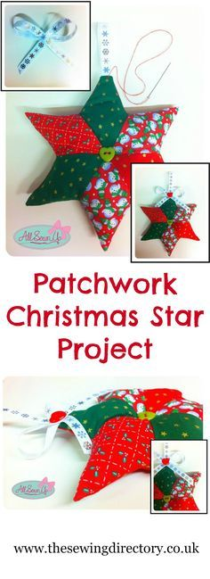 Sew this lovely patchwork Christmas star - free project