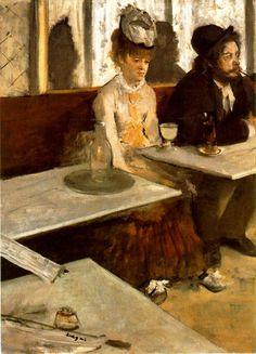 "Edgar Degas  ""La bevitrice d'assenzio"" 1876"