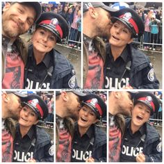 Tom Hardy taking a selfie with a cop at TIFF - Sept. 13th 2015