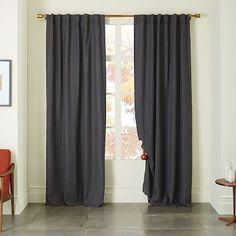 Belgian Linen Curtain - Slate #westelm