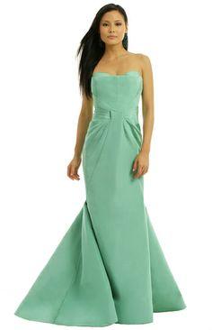 Zac Posen ZAC Celadon Silk Gown on shopstyle.com