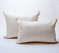 lined paper pillow by pilosale on Etsy, $45.00