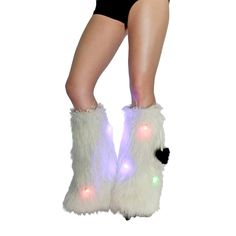 LED Sparkle White IHeartraves fluffies