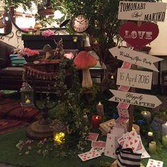 いいね!13件、コメント3件 ― チェリーラディッシュ(@cherryradish)「#fantastic #aliceinwonderland #wedding #art #handmademushroom #handmade #不思議の国のアリス #美術 #結婚式 #高砂装飾…」