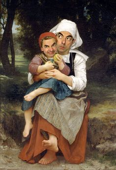 Rowan Atkinson's Mr Bean has been photoshopped onto iconic paintings