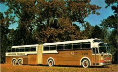 1958 Continental Trailways Super Golden Eagle Bus.