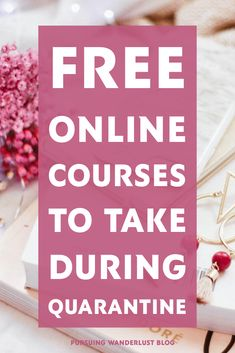 Are you currently stuck at home because of quarantine? There are several free online classes you can enroll in right now to take your mind off being at home. Free College Courses, Free Courses, Online Courses, Wine Tasting Course, Free Education, Photography Courses, Study Tips, Free Stuff, Business Tips