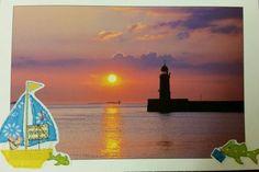 Postcrossing Postcard #121, Germany.  Harbor of Bremerhaven.