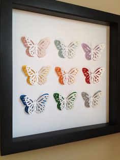 Butterfly 3D Paper Art  perfect for a new baby or by PaperLine, $35.00