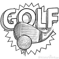 Golf type sketch, taken from  http://www.stockphotos.ro/golf-sketch-image28471339.html