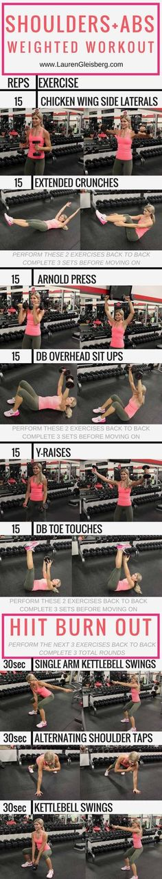 Quick Workouts You Can Do on Your Lunch Break - Shoulders + Abs Circuit Workout - Awesome Full Body Workouts You Can Do Right At Home or On Your Lunch Break- Cardio Routine for Beginners, Abs Exercises You Can Bang Out Before Shower - You Don't Need to Hi