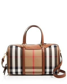 54261f66fbb1 Burberry Medium House Check Alchester Bowling Satchel Handbags -  Bloomingdale s