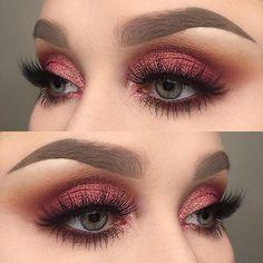 awesome Оригинальный макияж с красными тенями — Какому цвету глаз подойдет?