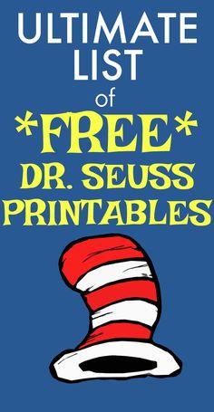 Dr Seuss Printables, Preschool Printables, Preschool Lessons, Preschool Age, Dr Seuss Week, Dr Suess, Dr Seuss Activities, Learning Activities, Fun Learning