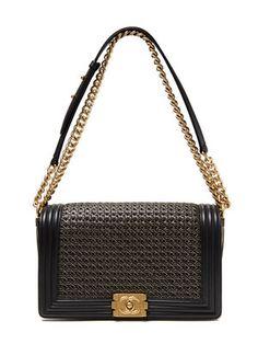dc0d3cc82c25 Chanel Black Braided Reverso Medium Boy Flap Bag from Vintage Chanel  Handbags: Madison Avenue Couture on Gilt