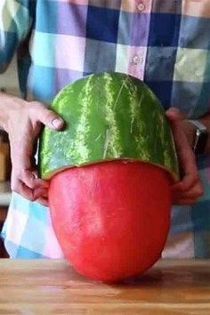 This Insane Watermelon Skinning Trick Will Make Your Jaw Drop