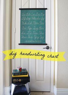 DIY Handwriting Chart -Momo