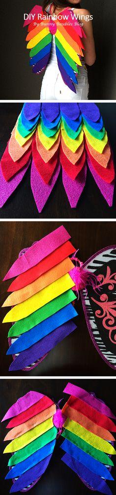 DIY rainbow wings for Lisa Frank Rainbow Kitten