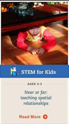 Teach your preschooler about spatial relationships. Click for details. #STEM