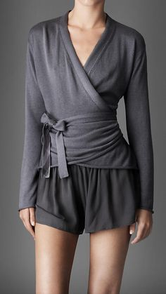 silk cotton wrap cardigan   Burberry I really like the grey colour. Ballet wraps are surprisingly hard to find.