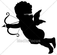 #StockPhoto Shooting #Cupid #Vector #Silhouette - Image VS1140251 - #valentine #image #illustration