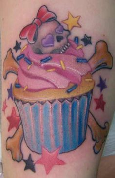 My cupcake tattoo<3