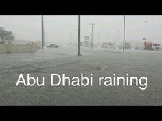 Rain Storm in Abu Dhabi UAE. 2017