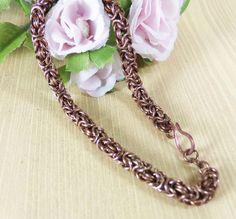 Bronze Byzantine bracelet Chainmaille bracelet by RoseBriarDesigns