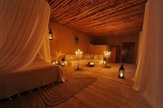 In the hills of the Marrakchi Desert of Morocco lies the La Pause Hotel. This unique hotel is a prime venue to escape mainstream destination spots and experience the glow of the starry desert sky. This isolated hotel provides upscale accommodations for guests as well as traditional nomadic gestures such as open tents and dining areas.