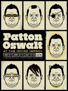 Patton Oswalt Poster | Cast Iron Design Company